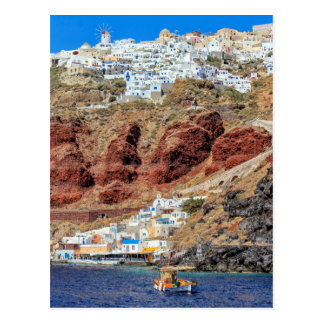 Oia village on Santorini island, north, Greece Postcard