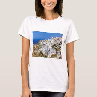 Oia village on Santorini island, north, Greece T-Shirt