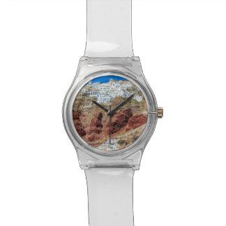 Oia village on Santorini island, north, Greece Wrist Watches