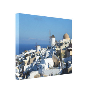 Oia Windmills Santorini Canvas Print