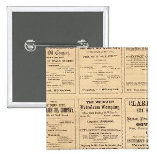 Oil Advertisements 15 Cm Square Badge