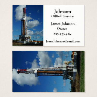Oil And Gas Industry Business Cards