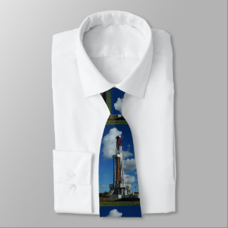 Oil and Gas Rig Print Necktie