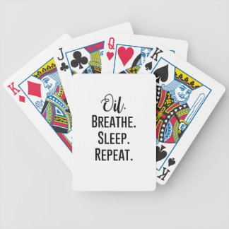 oil breathe sleep repeat - Essential Oil Product Bicycle Playing Cards