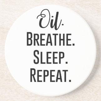 oil breathe sleep repeat - Essential Oil Product Coasters
