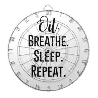 oil breathe sleep repeat - Essential Oil Product Dart Boards