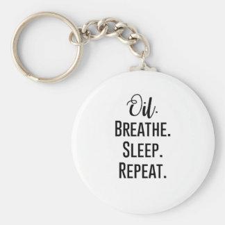 oil breathe sleep repeat - Essential Oil Product Key Ring