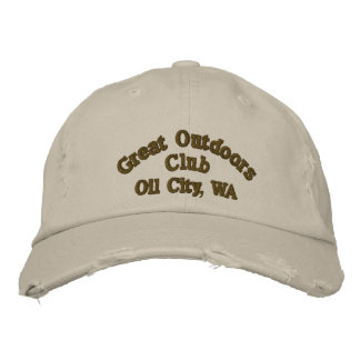 Oil City, WA Great Outdoors Club Hat Embroidered Baseball Cap