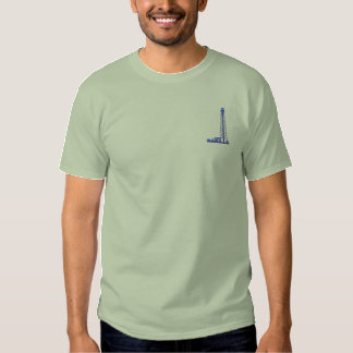 Oil Derrick Embroidered T-Shirt