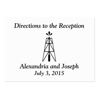 Oil Derrick Wedding | Directions to the Reception Business Cards
