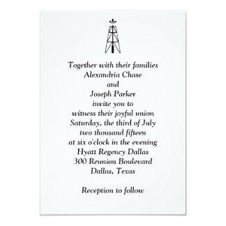 "Oil Derrick Wedding | Invitation 5"" X 7"" Invitation Card"