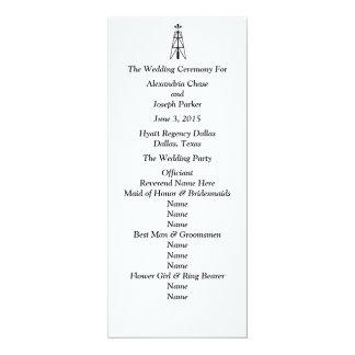Oil Derrick Wedding | Program 4x9.25 Paper Invitation Card