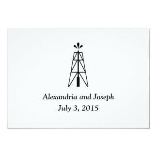 Oil Derrick Wedding | RSVP Insert 9 Cm X 13 Cm Invitation Card