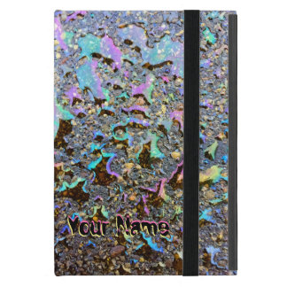 Oil Drops Iridescent Effect with Your Name Case For iPad Mini