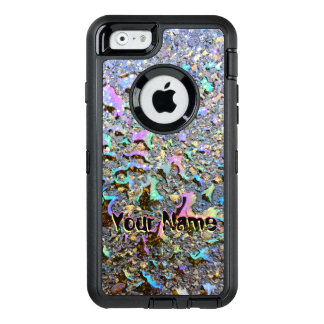 Oil Drops with Iridescent Reflections and Name OtterBox iPhone 6/6s Case