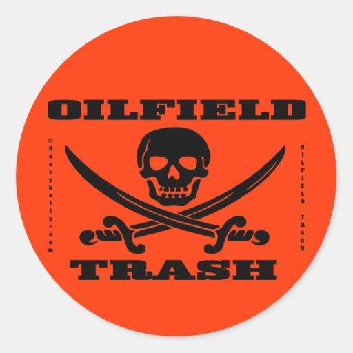 Oil Field Trash Hard Hat Decal,Oilman,Oil,Gas,Rig Stickers