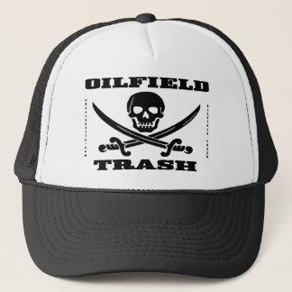 Oil Field Trash  Hat,Skull And Crossbones,Oil,Gas Trucker Hat