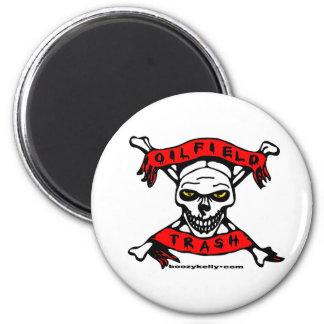 Oil Field Trash Skull, Magnet