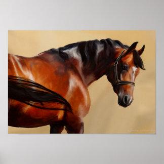 Oil Horse Poster