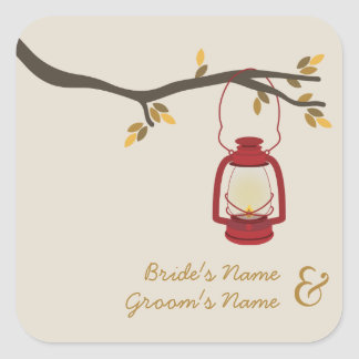 Oil Lamp Camping / Outdoor Fall Wedding Sticker