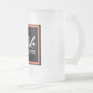 OIL LIFE Original Frosted Glass Beer Mug