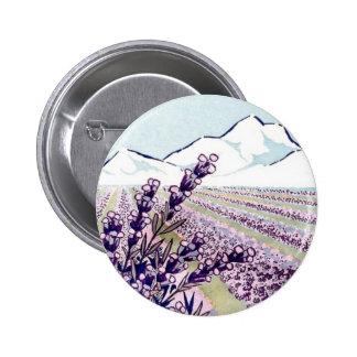 Oil of Lavender - Grasse France 6 Cm Round Badge