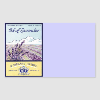 Oil of Lavender - Grasse France Rectangular Sticker