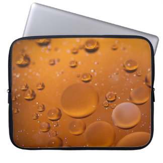 Oil on water laptop sleeve