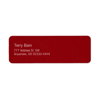 Oil Painted Looking Red Metal Texture Return Address Label