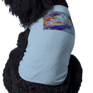 Oil painting flowers abstract sleeveless dog shirt