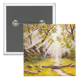 Oil Painting Morning Dew Button