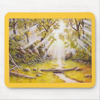 Oil Painting Morning Dew Mouse Pad
