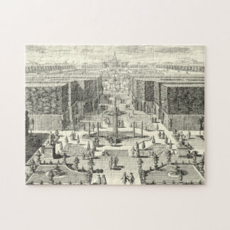 Oil Painting of Fountains at Garden of Versailles Jigsaw Puzzle
