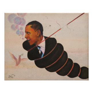 Oil Painting of Prisident Obama by Luke Taft print