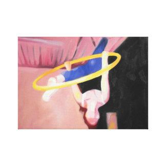 Oil Painting of Splits on the Aerial Hoop / Lyra Canvas Print