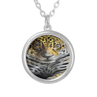 Oil Painting Silver Plated Necklace