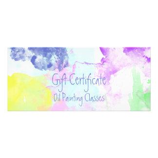 Oil Painting Splatters Gift Certificate Custom Rack Cards
