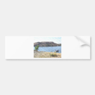 Oil Painting with Lake Bumper Sticker