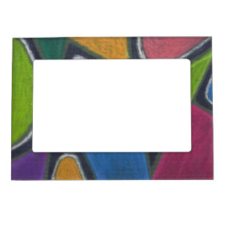 Oil Pastel Abstract Magnetic Picture Frame