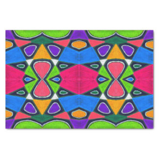 Oil Pastel Abstract Tissue Paper | Geometric