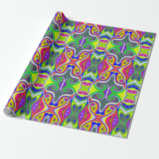 Oil Pastel Abstract Wrapping Paper | Fantasy