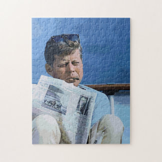 Oil pastel painting John F. Kennedy Jigsaw Puzzle