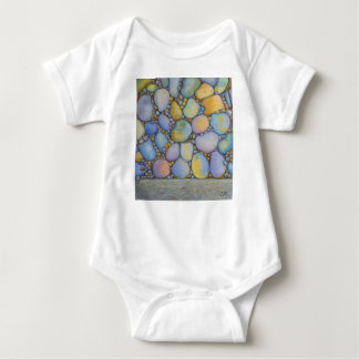 Oil Pastel River Rock and Pebbles Baby Bodysuit