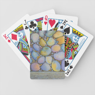 Oil Pastel River Rock and Pebbles Bicycle Playing Cards