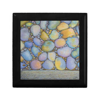 Oil Pastel River Rock and Pebbles Gift Box
