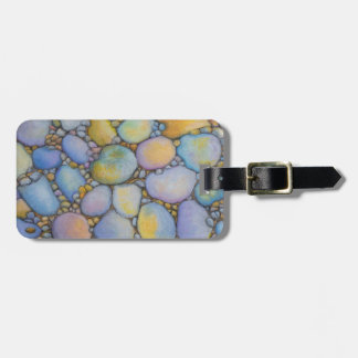 Oil Pastel River Rock and Pebbles Luggage Tag