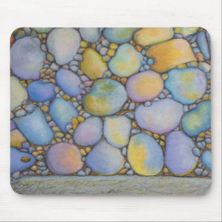 Oil Pastel River Rock and Pebbles Mouse Pad