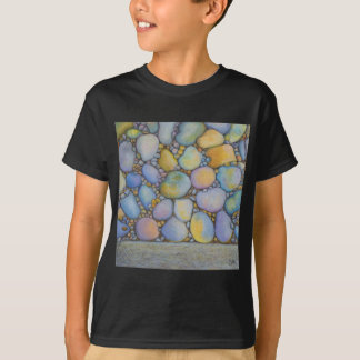 Oil Pastel River Rock and Pebbles T-Shirt