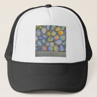 Oil Pastel River Rock and Pebbles Trucker Hat