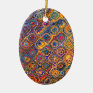 Oil Rainbow Ceramic Ornament